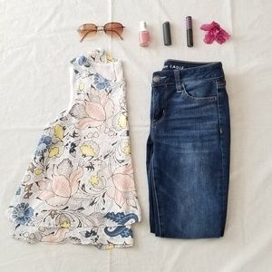 Loft outlet paisley/floral sleeveless shell